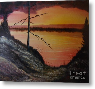 Metal Print featuring the painting Morning Yes by Stuart Engel