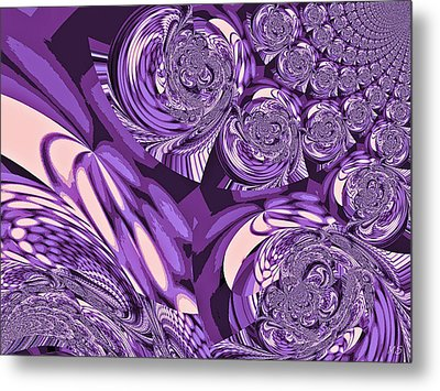 Moroccan Lights - Purple Metal Print by Absinthe Art By Michelle LeAnn Scott