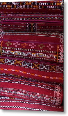 Morocco, Asni Berber Pillows At Richard Metal Print