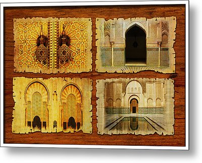 Morocco Heritage Poster 01 Metal Print by Catf