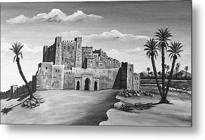 Morocco - Land Of Contrast Metal Print by Christine Till