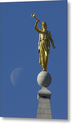 Moroni And The Moon Metal Print by David Andersen