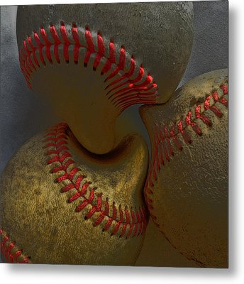 Morphing Baseballs Metal Print by Bill Owen