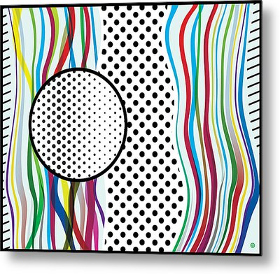 Morris Like Pop Art Metal Print
