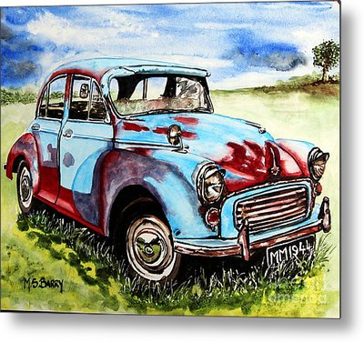 Morris Minor Metal Print by Maria Barry