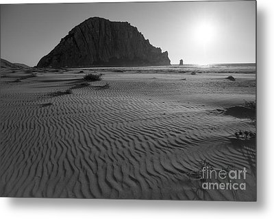 Morro Rock Silhouette Metal Print by Terry Garvin