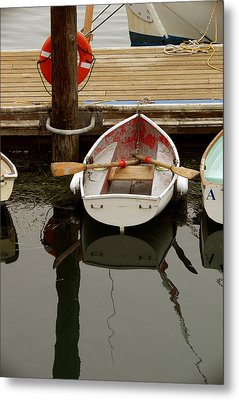 Morrow Bay Skiff Metal Print