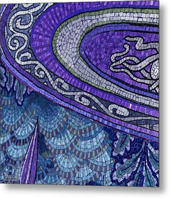 Mosaic Abstract Metal Print by Tony Rubino