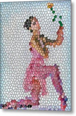 Mosaic Ballerina Metal Print by Nina Bradica