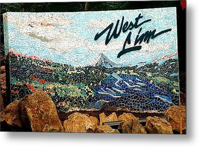 Mosaic For The City Of West Linn Oregon Metal Print by Charles Lucas