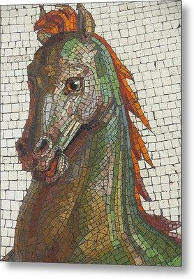 Mosaic Horse Metal Print