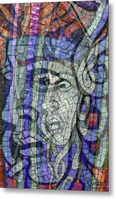 Mosaic Medusa Metal Print by Tony Rubino