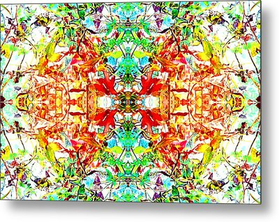 Metal Print featuring the photograph Mosaic Of Spring Abstract Art Photo by Marianne Dow