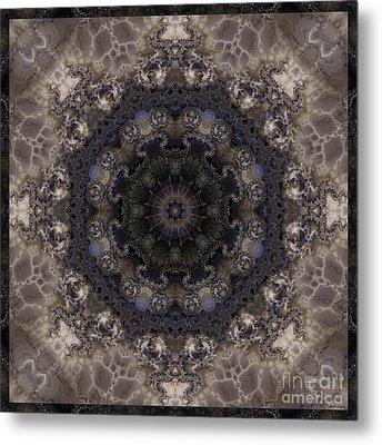 Mosaic Tile / Gray Tones Metal Print