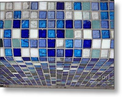Mosaic Tile Metal Print by Tony Cordoza