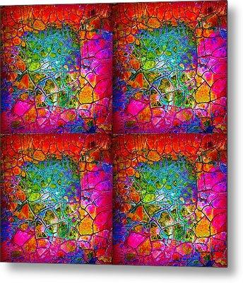 Mosaic Times Four Metal Print
