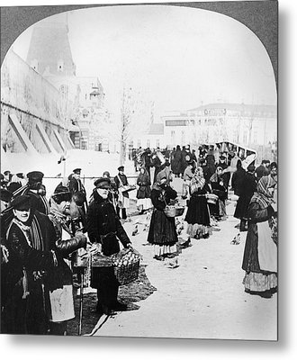 Moscow Market, C1919 Metal Print by Granger