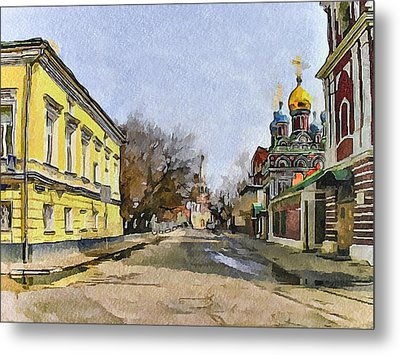 Moscow Old Streets 8 Metal Print by Yury Malkov