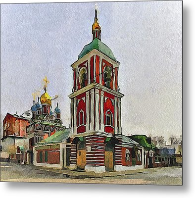 Moscow Old Streets 9 Metal Print by Yury Malkov