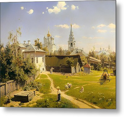 Moscow Patio Metal Print
