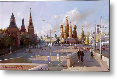 Moscow. Vasilevsky Descent. Views Of Red Square. Metal Print by Ramil Gappasov