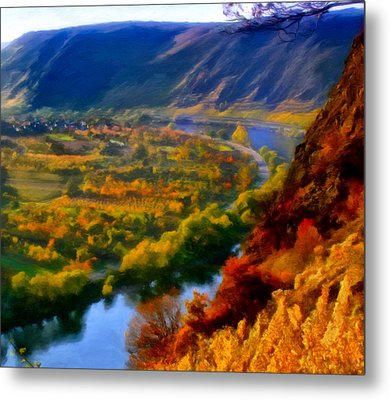 Mosel In The Fall Metal Print by Michael Pickett