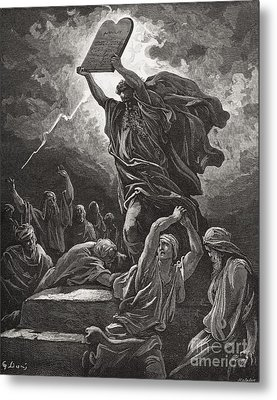 Moses Breaking The Tablets Of The Law Metal Print