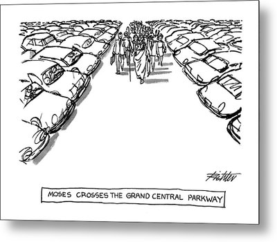Moses Croses The Grand Central Parkway Metal Print by Mischa Richter
