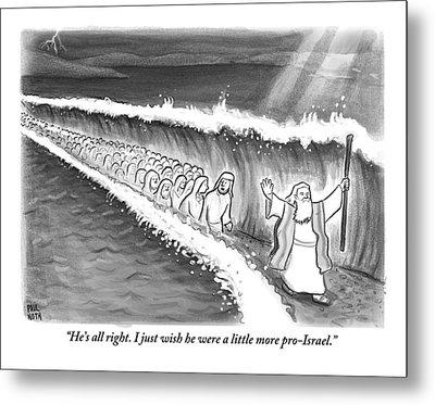 Moses Parting The Sea Metal Print