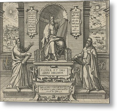 Moses With The Law In The Company Of Two Prophets Metal Print