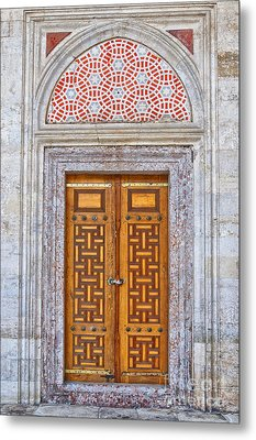 Mosque Doors 04 Metal Print by Antony McAulay