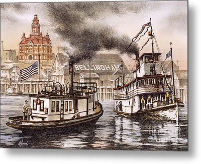 Mosquito Fleet Steamboats Metal Print by James Williamson