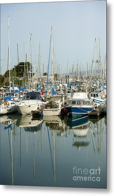 Moss Landing Boat Harbor Metal Print by Artist and Photographer Laura Wrede