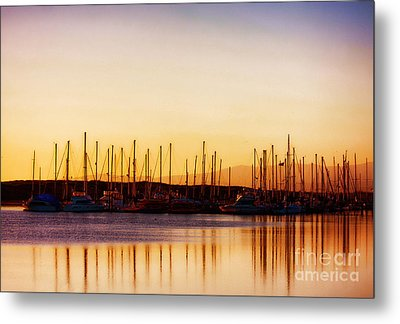 Moss Landing Sunset Metal Print by Polly Peacock