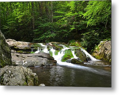 Mossy Falls Metal Print by Frozen in Time Fine Art Photography