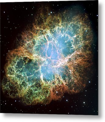 Most Detailed Image Of The Crab Nebula Metal Print by Adam Romanowicz