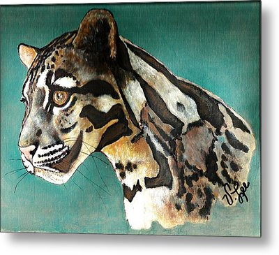 Metal Print featuring the painting Most Elegant Leopard by VLee Watson