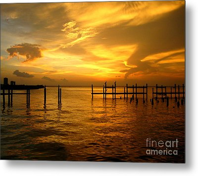 Most Venerable Sunset Metal Print by Kathy Bassett