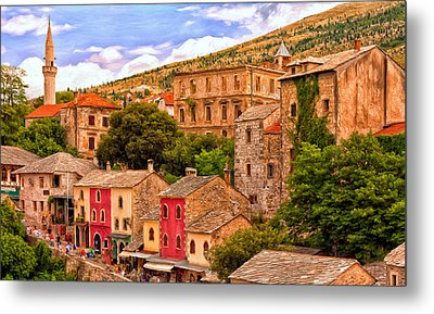 Metal Print featuring the painting Mostar by Michael Pickett