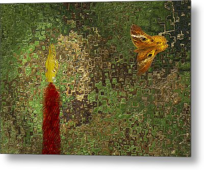 Moth To The Flame Metal Print by Jack Zulli