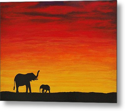 Metal Print featuring the painting Mother Africa 1 by Michael Cross
