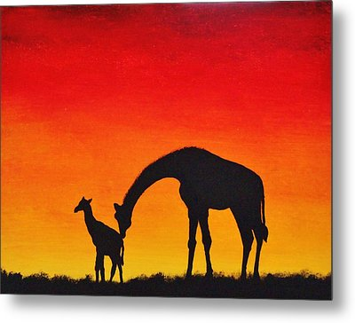 Metal Print featuring the painting Mother Africa 2 by Michael Cross