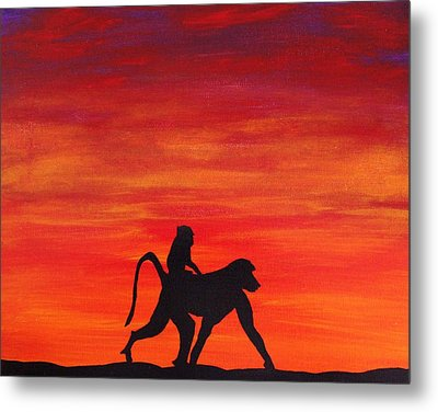 Metal Print featuring the painting Mother Africa 4 by Michael Cross