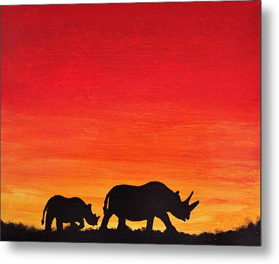 Metal Print featuring the painting Mother Africa 5 by Michael Cross