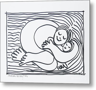 Mother And Child Metal Print by Barbara Anna Knauf