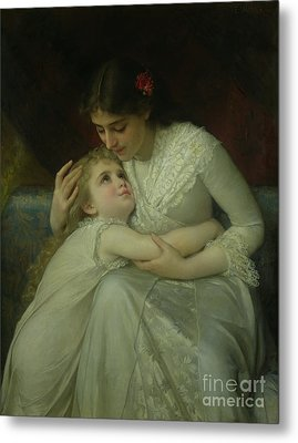 Mother And Child Metal Print by Emile Munier