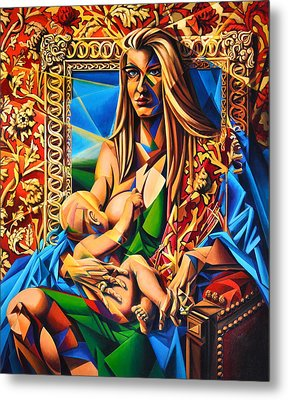 Mother And Child Metal Print by Greg Skrtic