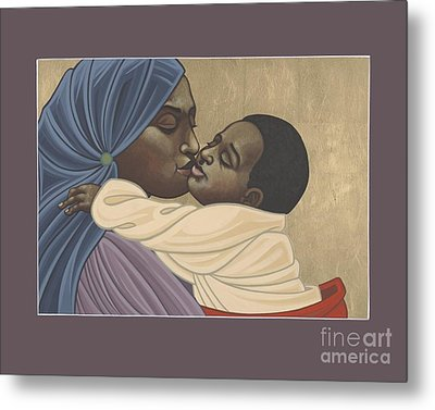 Metal Print featuring the painting Mother And Child Of Kibeho 131 by William Hart McNichols