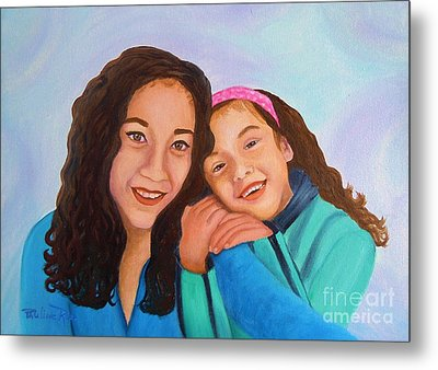 Mother And Daughter Metal Print by Pauline Ross
