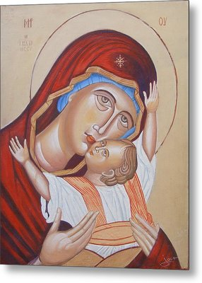 Mother And Son Metal Print by Jovica Kostic